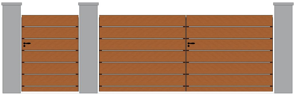 portail et portillon en bois modele Blavet