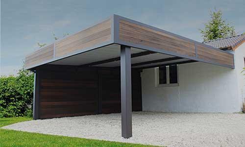 Carport aluminium adossé à la maison