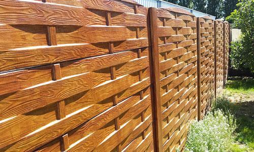 Cloture beton aspect bois chene amblainville 95