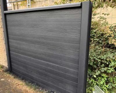 Cloture beton aspect planche