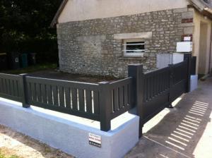Cloture et portail aluminium gris graphite a chaumont en vexin oise 2