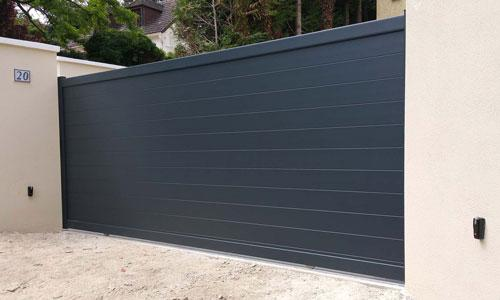 Coulissant aspect un vantail gris anthracite Pontoise