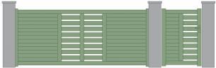 Diskar portail coulissant deux vantaux simplifies