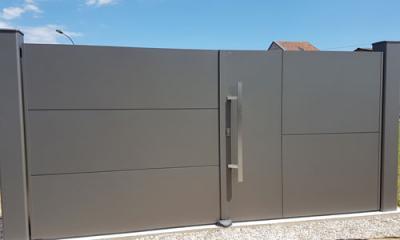 Esus portail gris sablé 2900 - Chaumont en Vexin 60 a2p