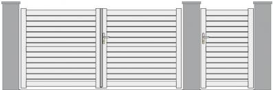Kenkis lames horizontales ajourées 90 mm traverse intermédiaire