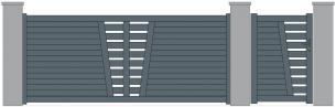 Kestenn decor partie centrale lames horizontales