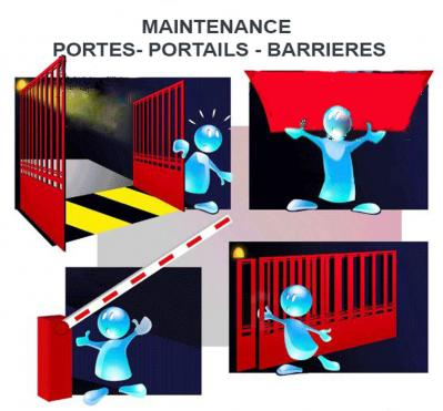 Maintenance portes portails barrieres a2p
