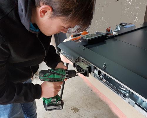 Maintenance et réparation de portails, porte de garage