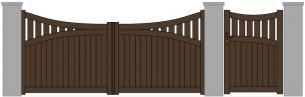 Padou barriere alu aspect bois forme originale