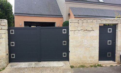 Portail coulissant et portillon Ublo - Val d oise 95 labbeville