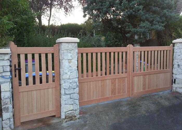 portillons et portail en bois chaumont en vexin 60240. Black Bedroom Furniture Sets. Home Design Ideas