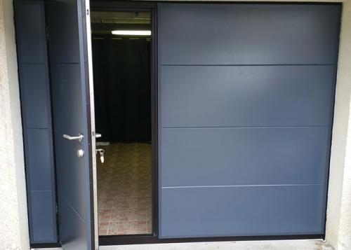 Porte garage basculante isolee portillon oise