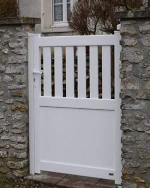 Portillon Argoat blanc alu - Monjavoult 60240