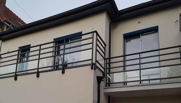 Garde-corps en aluminium pour la terrasse, le balcon